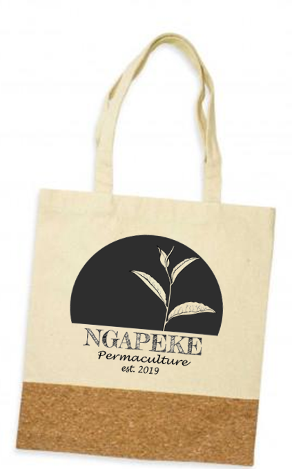 Ngapeke Permaculture Cork Tote Bag